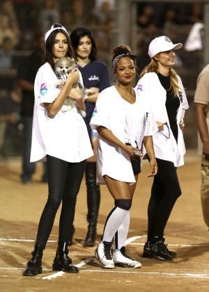 Kendall and Kylie Jenner - KickN It For Charity Celebrity Kick Ball Game -26