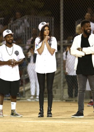 Kendall and Kylie Jenner - KickN It For Charity Celebrity Kick Ball Game -29