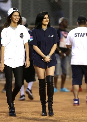 Kendall and Kylie Jenner - KickN It For Charity Celebrity Kick Ball Game -32
