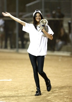 Kendall and Kylie Jenner - KickN It For Charity Celebrity Kick Ball Game -36