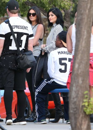 Kendall and Kylie Jenner - KickN It For Charity Celebrity Kick Ball Game -38