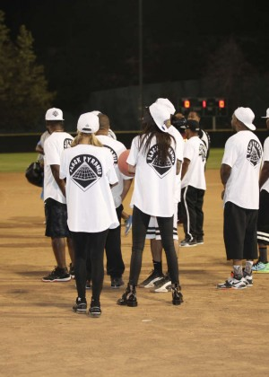 Kendall and Kylie Jenner - KickN It For Charity Celebrity Kick Ball Game -43