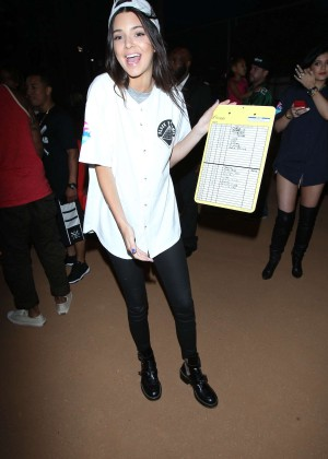 Kendall and Kylie Jenner - KickN It For Charity Celebrity Kick Ball Game -47