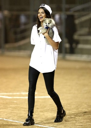 Kendall and Kylie Jenner - KickN It For Charity Celebrity Kick Ball Game -50