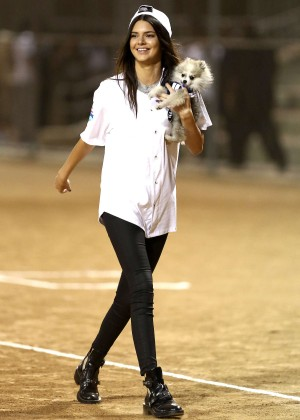 Kendall and Kylie Jenner - KickN It For Charity Celebrity Kick Ball Game -52
