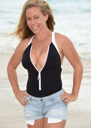 Kendra Wilkinson in Black Swimsuit - Photoshoot in Queensland