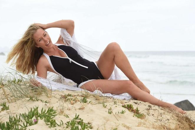 Kendra Wilkinson in Black Swimsuit -08