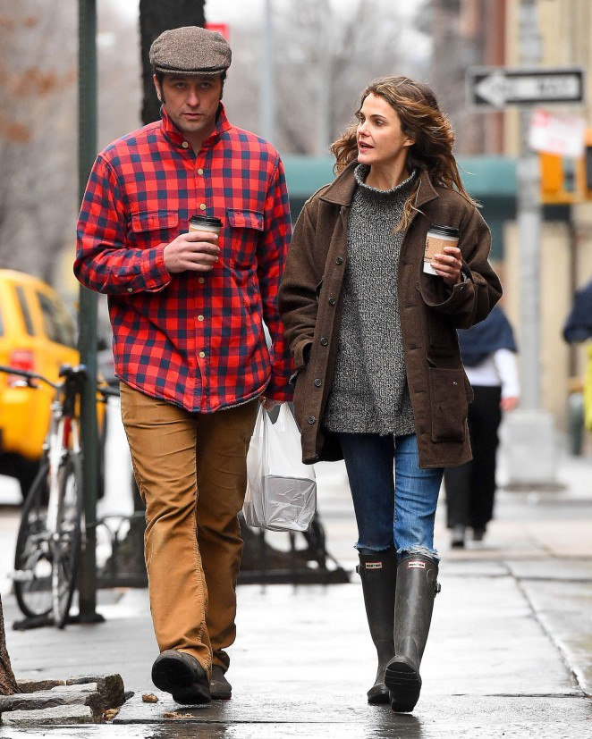 Keri Russell and Matthew Rhys Out in Brooklyn