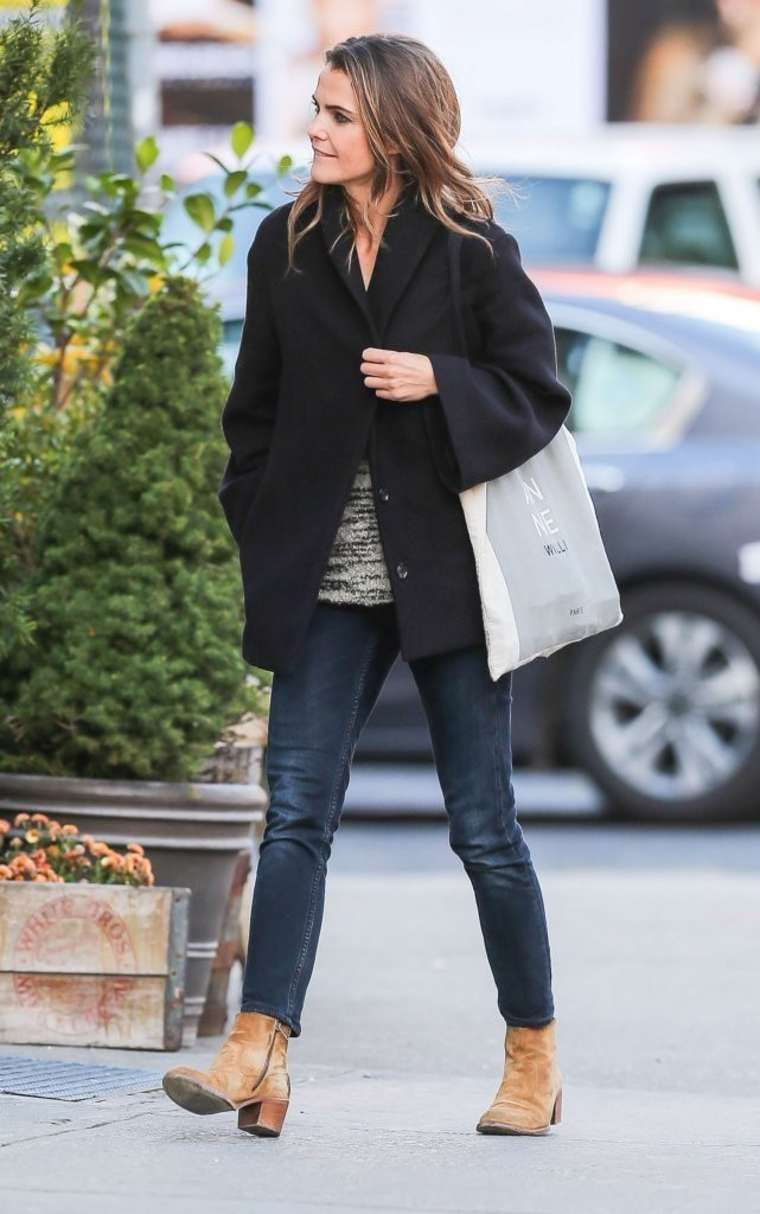 Keri Russell In Tight Jeans Out In Nyc