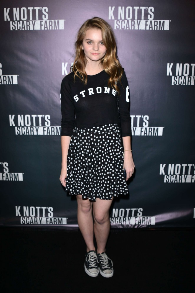 Kerris Dorsey - Knott's Scary Farm Opening Night in Buena Park
