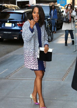 Kerry Washington Leggy in Mini Dress - Arriving at The View Studios in New York