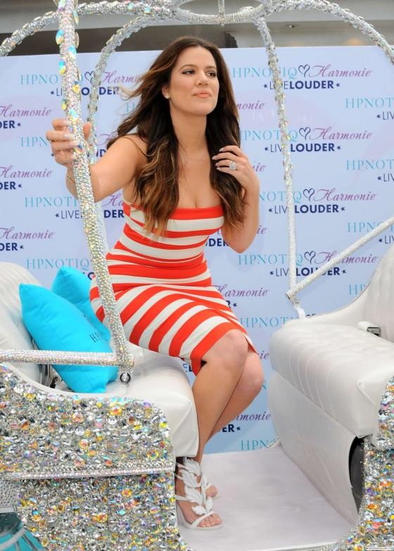 khloe kardashian at 2013 thehypnotiq harmonie glam