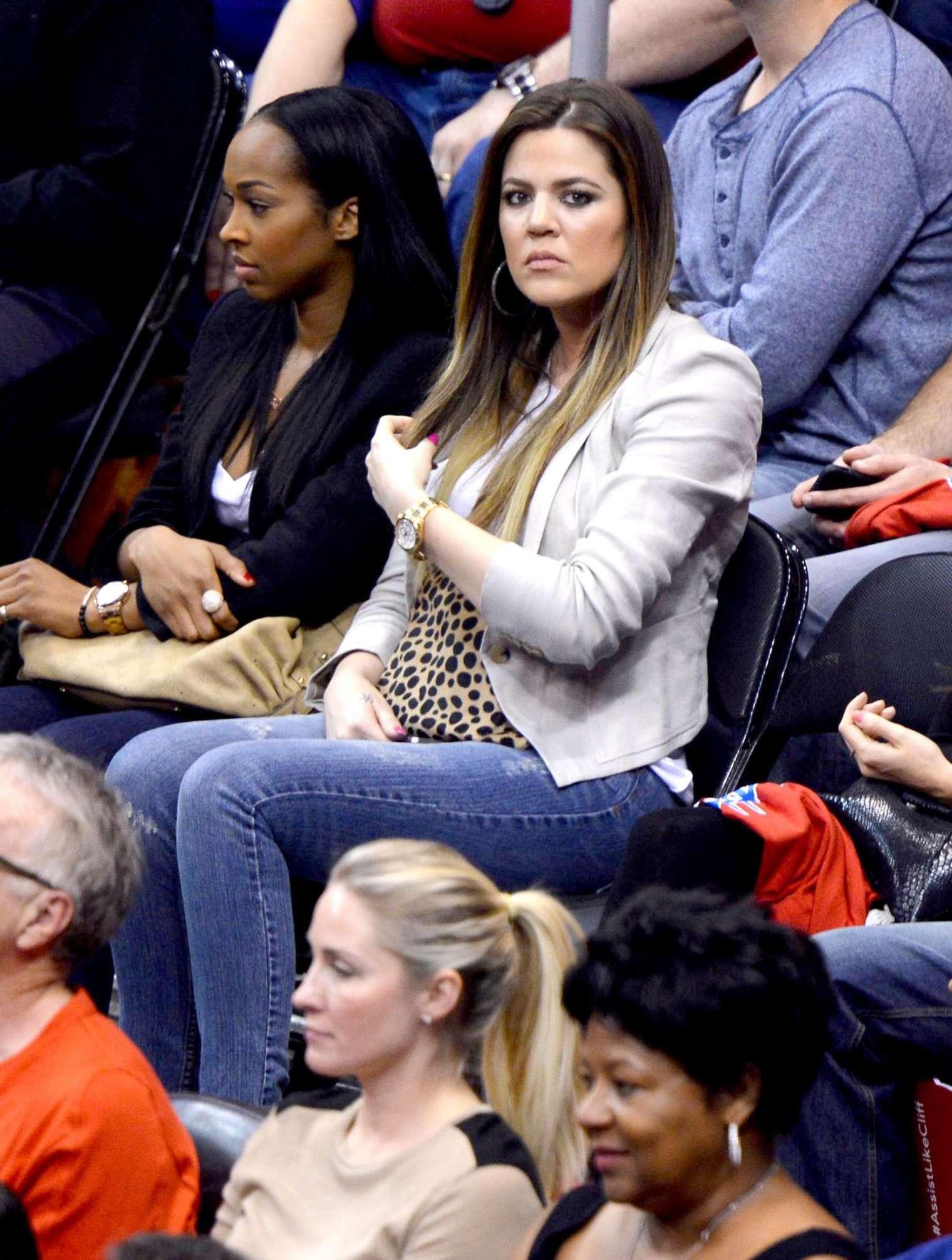 Khloe Kardashian 2013 : Khloe Kardashian at the LA Clippers game -02