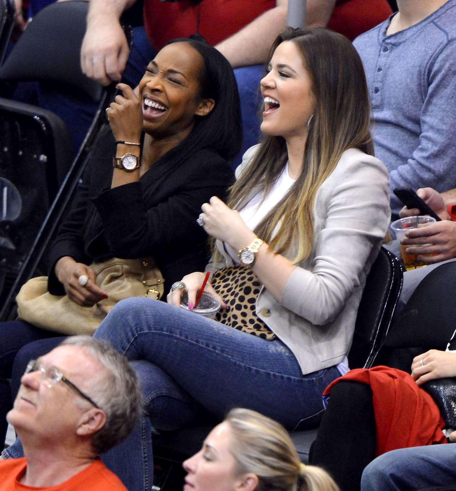 Khloe Kardashian 2013 : Khloe Kardashian at the LA Clippers game -07