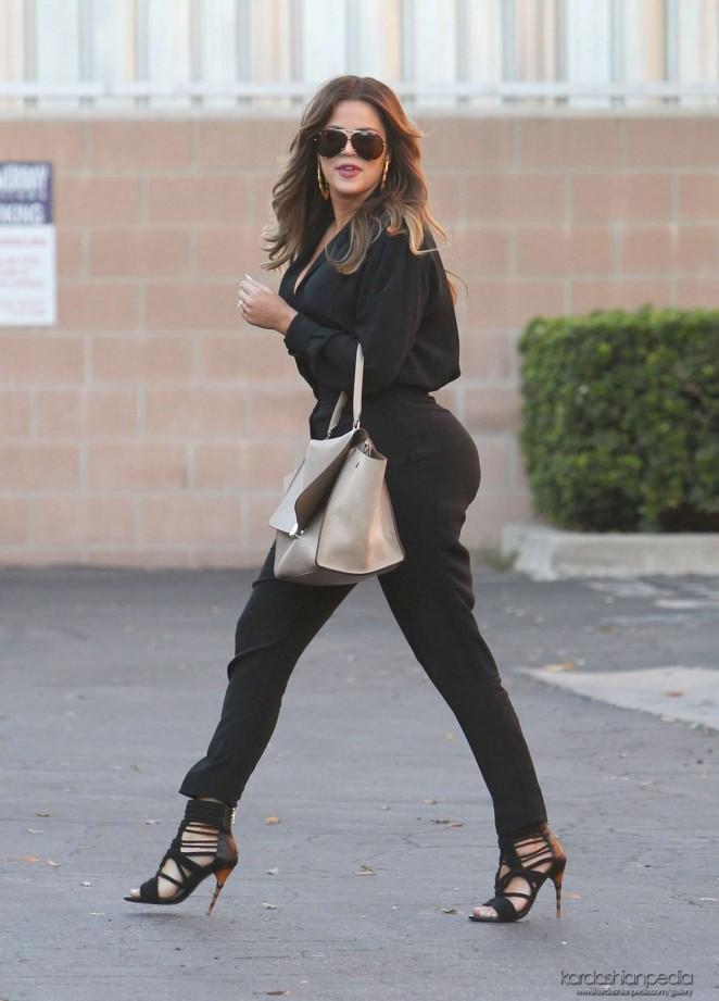 Khloe Kardashian in Tight Pants Leaving a studio in LA