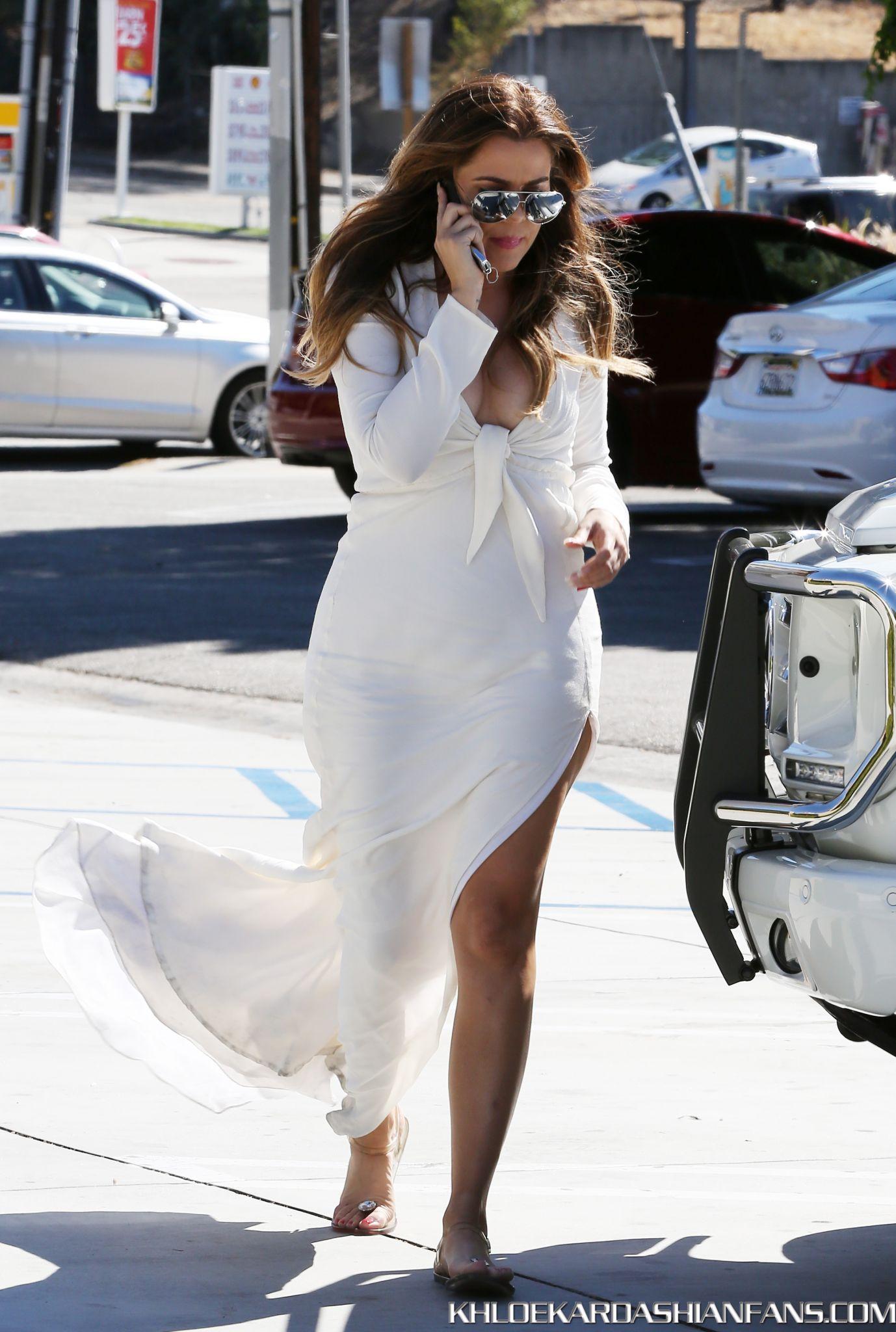 Khloe Kardashian 2014 : Khloe Kardashian in White Dress -09