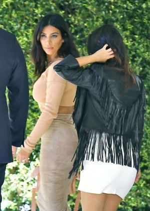 Kim and Kourtney Kardashian head to Abbey Wilson's baby shower in Los Angeles