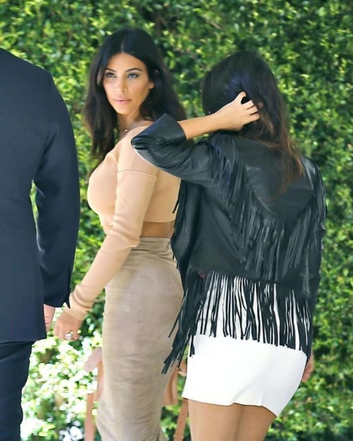 Kim and Kourtney Kardashian head to Abbey Wilson's baby shower in Los Angeles