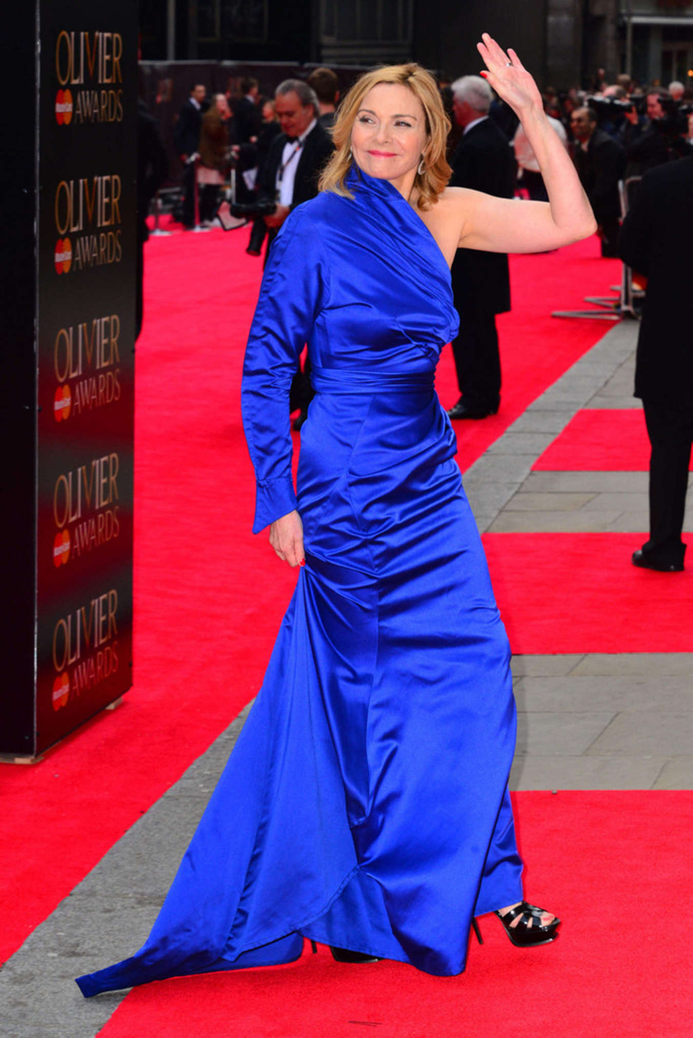 Kim  Cattrall Arrives At  Laurence  Olivier  Awards