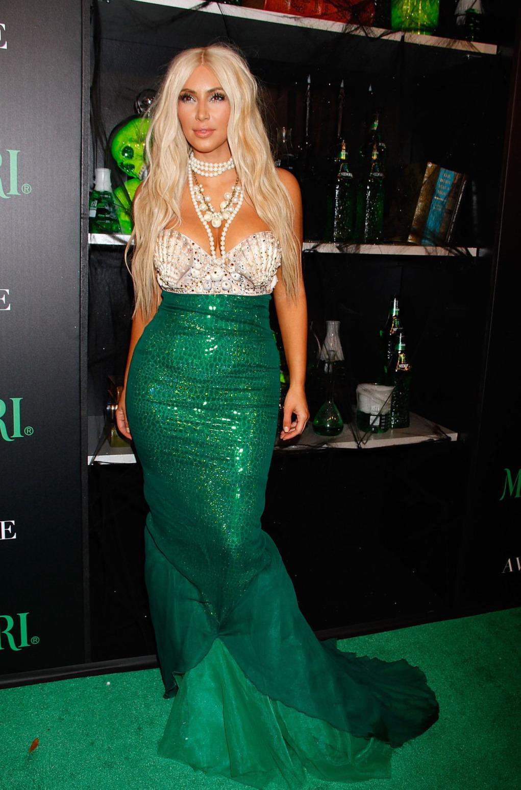 to post Kim Kardashian     2012 Midori Green Halloween Party in NYKim Kardashian Halloween Costume 2013