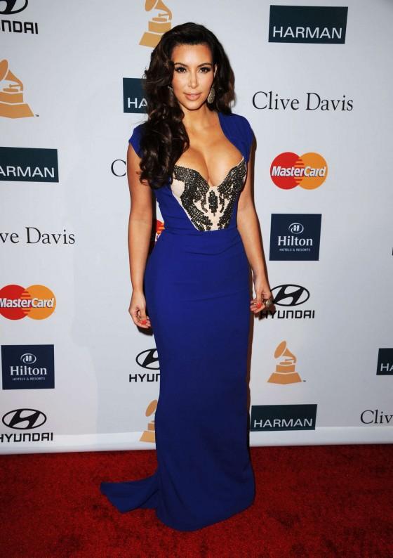 Kim Kardashian 2012 Pre-GRAMMY Gala
