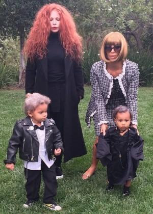 Kim Kardashian - Anna Wintour Halloween Costume 2014