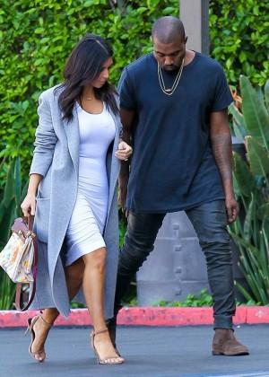 Kim Kardashian - Arriving at Jenner Communications in Woodland Hills