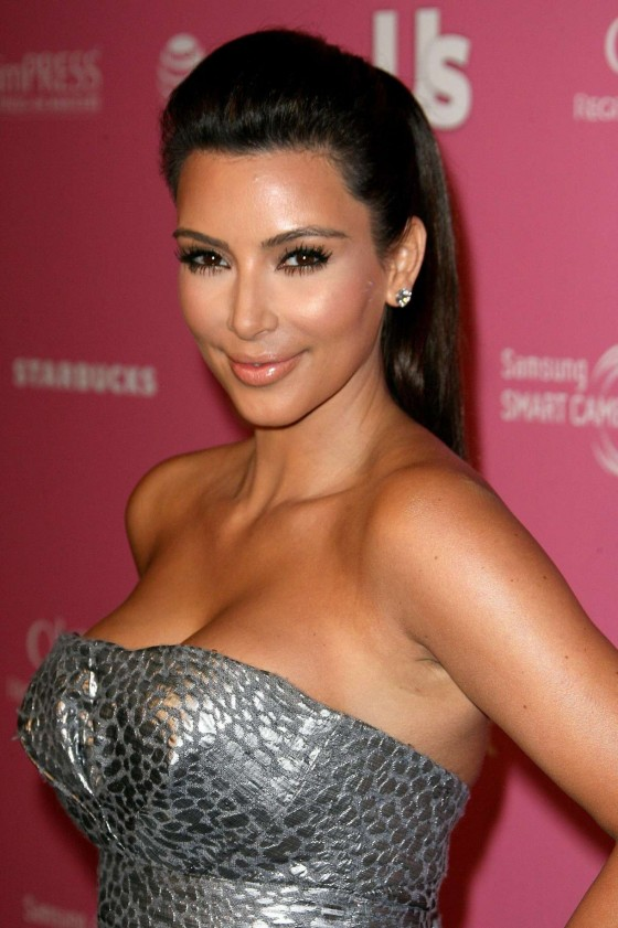 Kim Kardashian In a tight silver dress at 2012 US Weekly's Hot Hollywood Style Issue Event