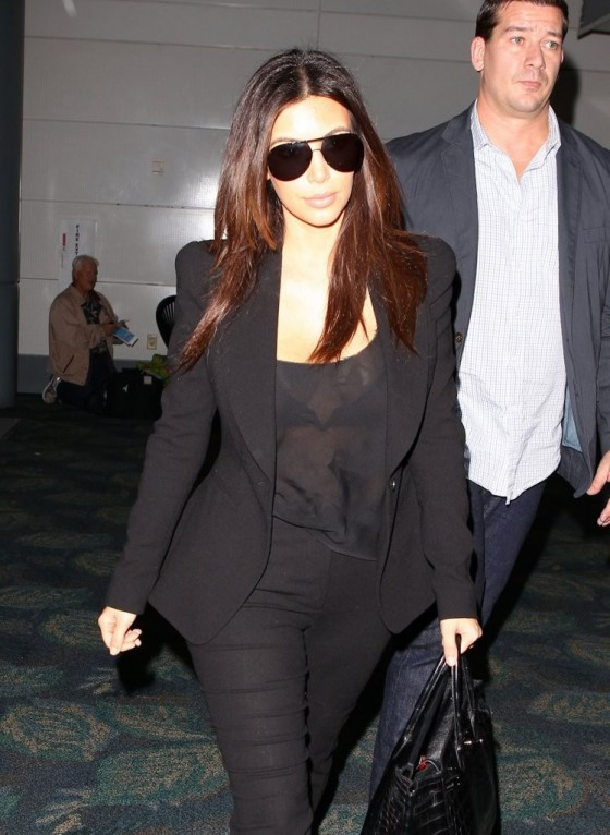 Kim Kardashian - at the Fort Lauderdale airport in Florida