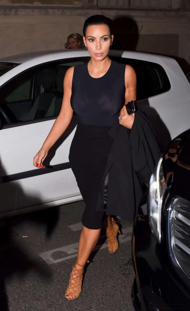 Kim Kardashian at Ferdi Restaurant in Paris