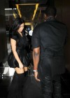Kim Kardashian in black dress at Kung Pao Bistro -01