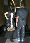 Kim Kardashian in black dress at Kung Pao Bistro -02