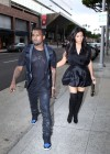 Kim Kardashian in black dress at Kung Pao Bistro -05