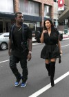Kim Kardashian in black dress at Kung Pao Bistro -06