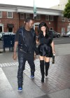 Kim Kardashian in black dress at Kung Pao Bistro -08