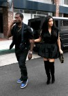 Kim Kardashian in black dress at Kung Pao Bistro -09