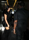 Kim Kardashian in black dress at Kung Pao Bistro -11