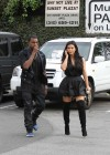 Kim Kardashian in black dress at Kung Pao Bistro -12