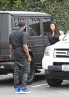 Kim Kardashian in black dress at Kung Pao Bistro -14
