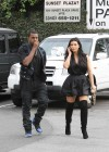 Kim Kardashian in black dress at Kung Pao Bistro -15