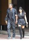 Kim Kardashian in black dress at Kung Pao Bistro -16