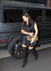 Kim Kardashian in black dress at Kung Pao Bistro -17