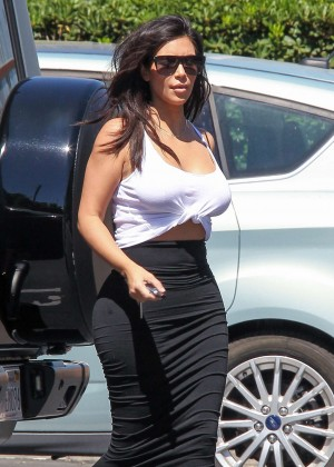 Kim & Kourtney Kardashian at the Bunim/Murray Productions studio in Van Nuys
