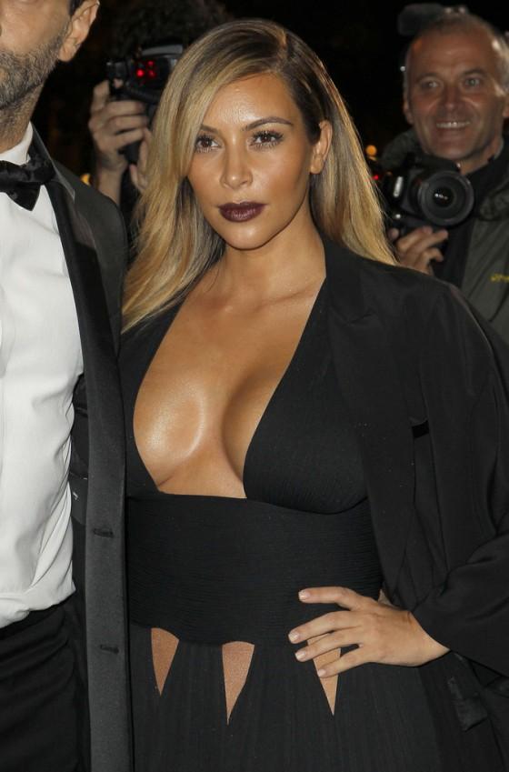 "Kim Kardashian at the ""Mademoiselle C"" premiere in Paris"