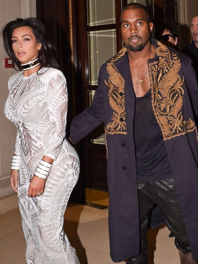 Kim Kardashian Balmain Paris Fashion Week 2014 01 Gotceleb