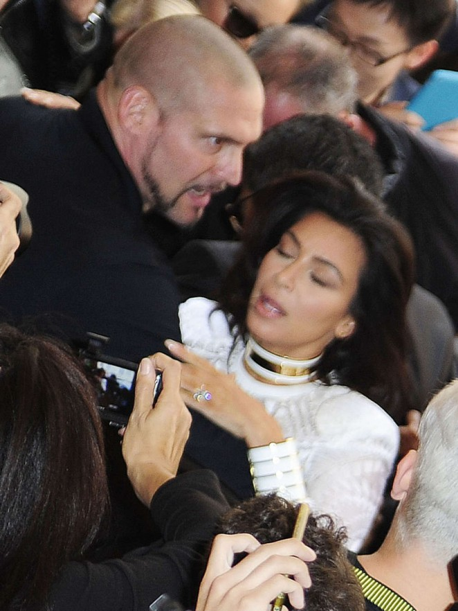 Kim Kardashian: Balmain Paris Fashion Week 2014 -10