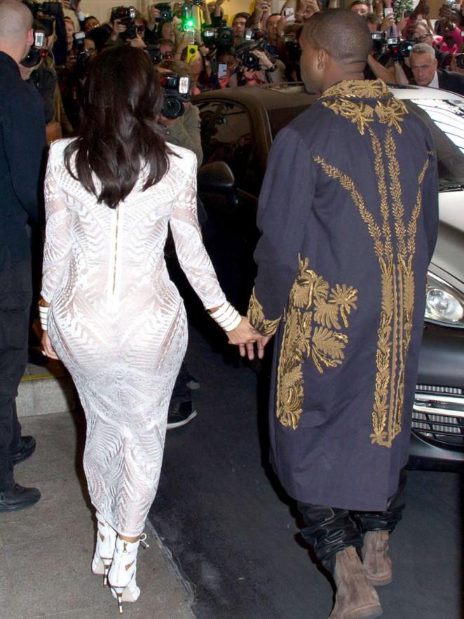 Kim Kardashian Balmain Paris Fashion Week 2014 11 Gotceleb