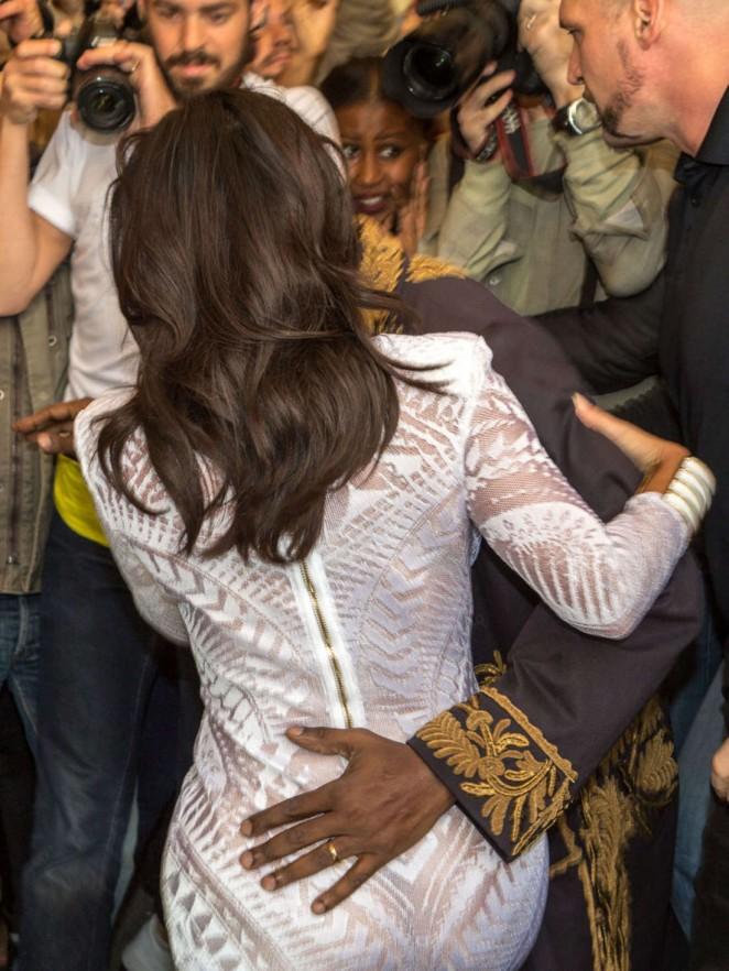Kim Kardashian Balmain Paris Fashion Week 2014 17 Gotceleb