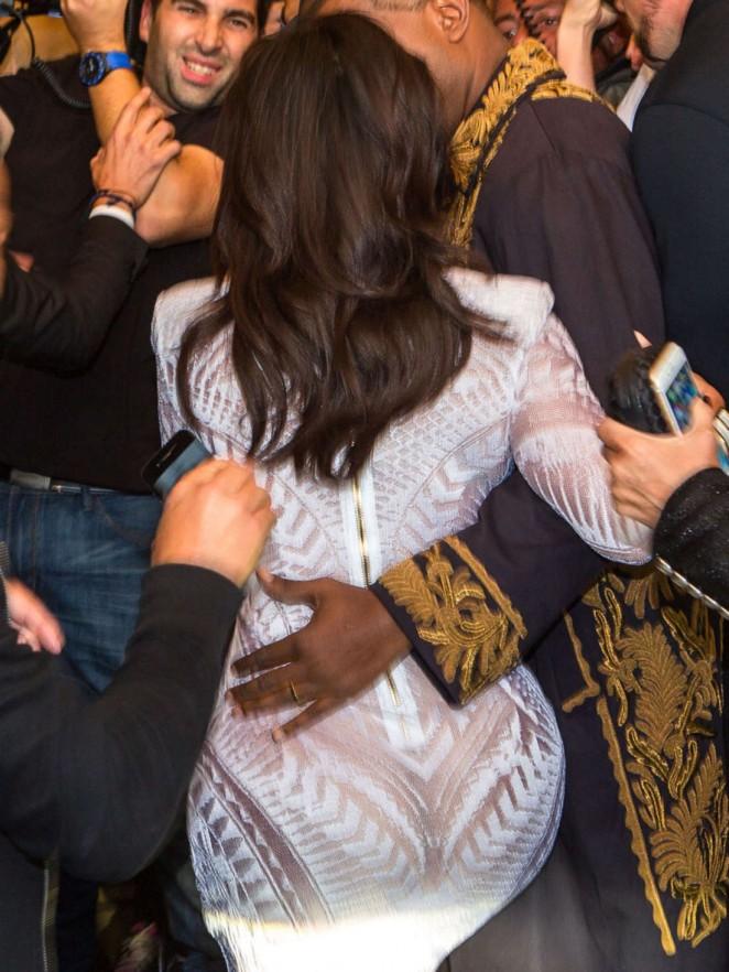 Kim Kardashian Balmain Paris Fashion Week 2014 26 Gotceleb