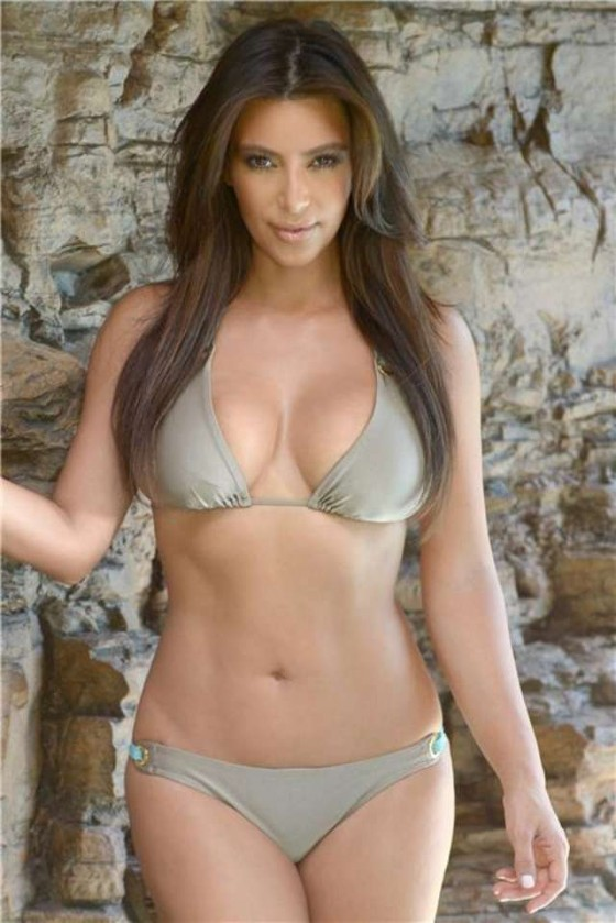 Kim Kardashian - poses for a bikini photoshoot in Miami